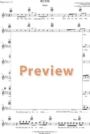 Dorable Guitar Chords Rude Magic Pattern - Beginner Guitar Piano ...