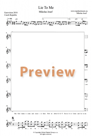 Mikolas Josef - Lie To Me sheet music